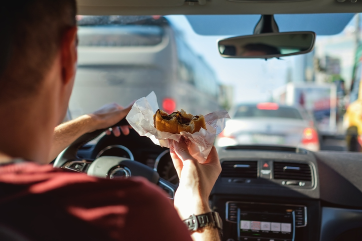 The Dangers of Eating and Driving